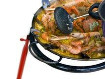 cuisson de l'espagnol de Paella Image stock