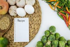 Cuisson de l'ingrédient et du légume photo stock