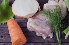 Cuisson de la nourriture légère Image stock