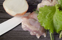 Cuisson de la nourriture légère Photo stock
