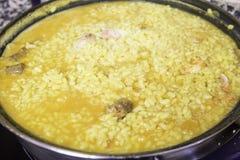 Cuisson de la Paella Image stock