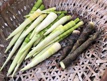 Cuisson de la pousse en bambou Image stock