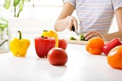 Cuisson de la salade Image stock