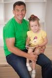 Cuisson de père et de fille Image stock