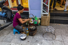 Cuisson de repas de rue Photo stock
