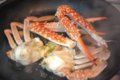 Cuisson des crabes Image stock