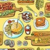 Cuisson des hamburgers illustration libre de droits