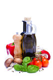 Cuisson des ingrédients Image stock