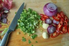 Cuisson des ingrédients Photo stock