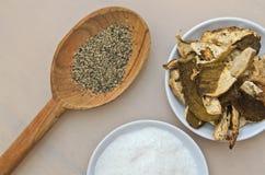 Cuisson des ingrédients d'épices Images stock