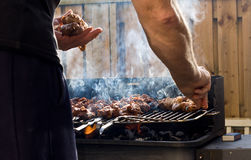 Cuisson du BBQ Image stock
