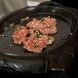 Cuisson du boeuf grillé tout entier coréen Image libre de droits