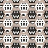 Cuisson du fond répétitif pour la cuisine Modèle sans couture de vecteur avec des plats et des tasses illustration libre de droits