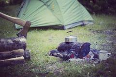 Cuisson du petit déjeuner Image libre de droits
