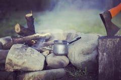 Cuisson du petit déjeuner Photo libre de droits