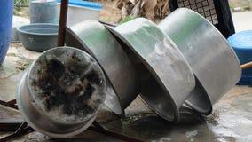 Cuisson du pot après le lavage Photos libres de droits