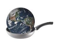 cuisson du réchauffement global de la terre Images stock