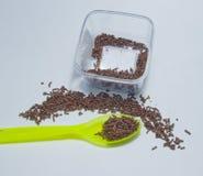 Cuisson du riz de chocolat Photos libres de droits