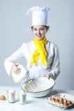 Cuisson du tarte Photographie stock libre de droits