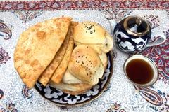 Cuisson en cuisine asiatique centrale Photo libre de droits