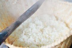 Cuisson initiale de riz Photographie stock libre de droits