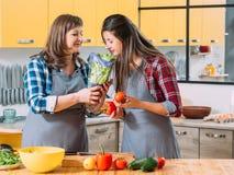 Cuisson v?g?tarienne de famille de tendance d'aliment biologique photographie stock