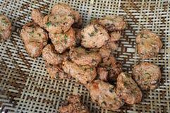Cuit à la friteuse Photo stock