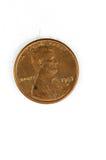 1 cuivre de pièce de monnaie de cent d'USA dans un dieu que nous faisons confiance Images libres de droits