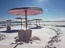 Cukier plaża w zimie obraz royalty free