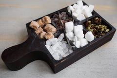 Cukier w pudełku Obrazy Stock