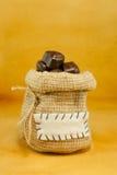 cukierek czekolada folował kształtującego serce worek Zdjęcia Stock