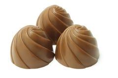 cukierek czekolada trzy Zdjęcia Royalty Free