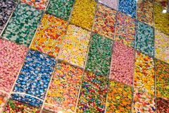 Cukierek gablota wystawowa Zdjęcie Stock