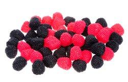 cukierek jagodowa czarny czerwień kształtował Obraz Royalty Free