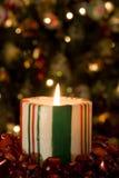 Cukierek Pasiasta świeczka Zdjęcia Stock