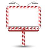 Cukierek trzciny billboard na bielu Obraz Stock