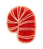Cukierek trzciny ciastko z kropi Zdjęcia Royalty Free