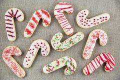 Cukierek trzciny Cukrowi ciastka obrazy stock