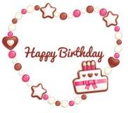 cukierek urodzinowa rama Zdjęcie Stock