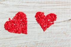 Cukierek w postaci czerwonych serc Obrazy Stock