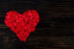 Cukierek w postaci czerwonych serc Obrazy Royalty Free