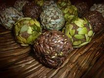 Cukierek wysuszone owoc i dokrętki zdrowe jeść surowe jedzenie Zdjęcie Stock