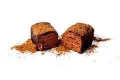 Cukierek z serem i czekoladą Zdjęcia Stock