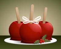Cukierków bożenarodzeniowi Jabłka Obrazy Stock