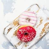 Cukierków różowi donuts Obrazy Royalty Free
