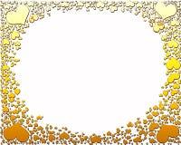 cukierków ramowi złoci serca Obrazy Stock