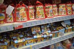 Cukierków sety w supermarkecie Obrazy Royalty Free