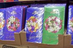 Cukierków sety w supermarkecie Zdjęcie Stock