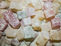Cukierki, barwiona cebula w sproszkowanym cukierze Zdjęcie Royalty Free