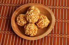 Cukierki chuchający ryż maty tekstury tło Obrazy Royalty Free